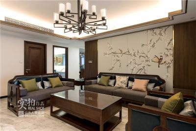 三居室两厅新中式风