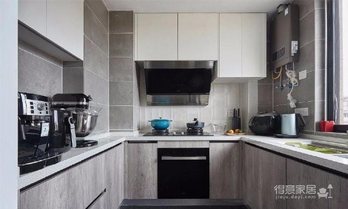 70㎡北欧风二居室设计,时尚自然的蓝灰色质感很不错!