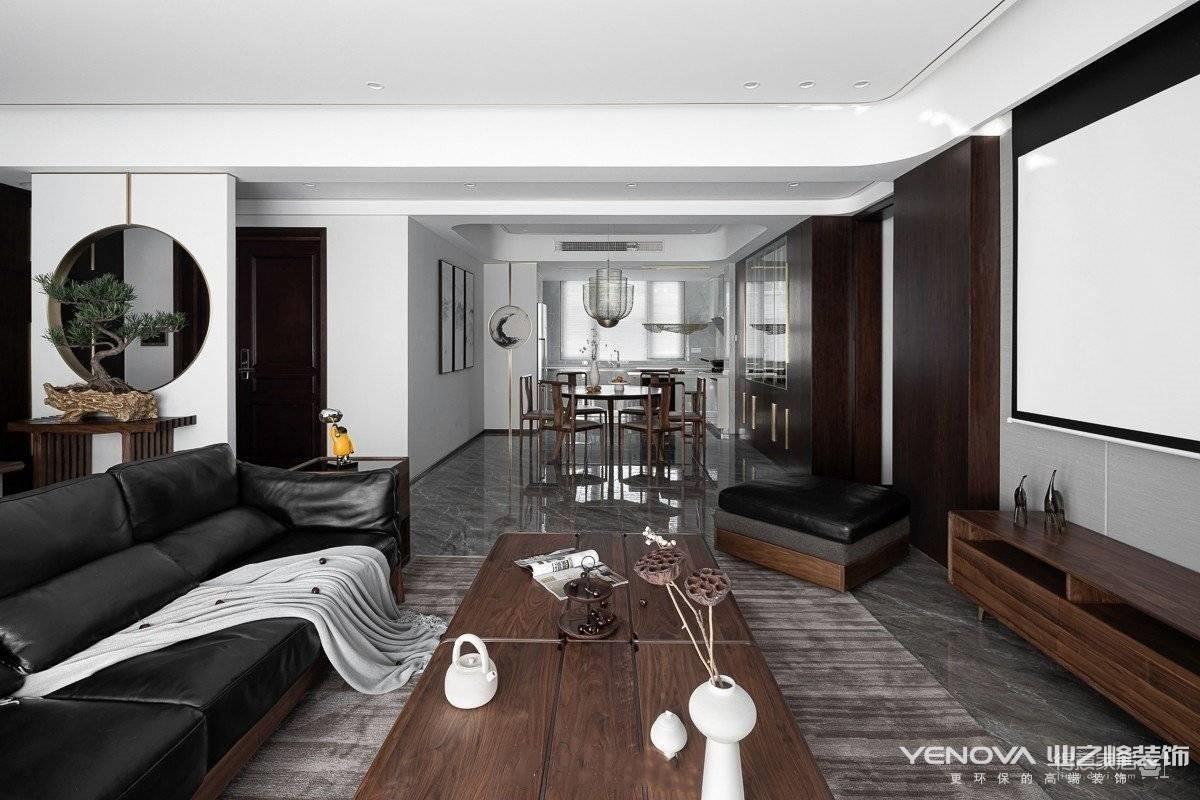 金地天悦150平-现代黑白灰设计
