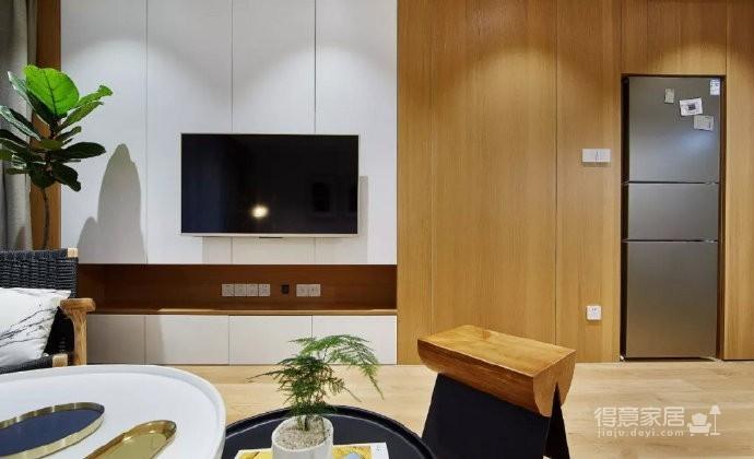 89㎡简约现代风格家居装修,自然木色总是能让空间变得休闲舒适! 