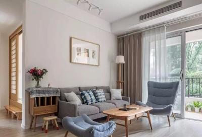 日式风格装修讲究的往往是一种意境的营造,没有过多软装的客厅,给了人们更多的想象空间。