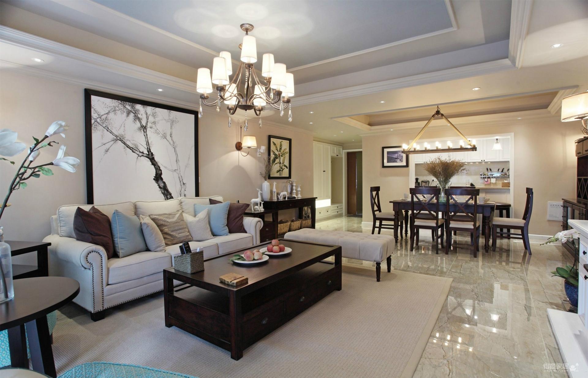 三室两厅123平现代美式混搭风