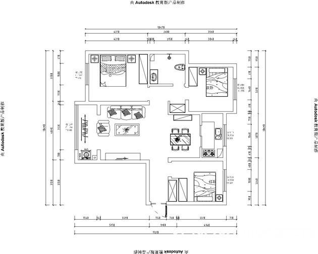 湖楚世家129平-现代风格