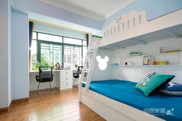 126平现代美式风格装修,设计融入暧心和欢快的元素,享受随意任性的家居生活