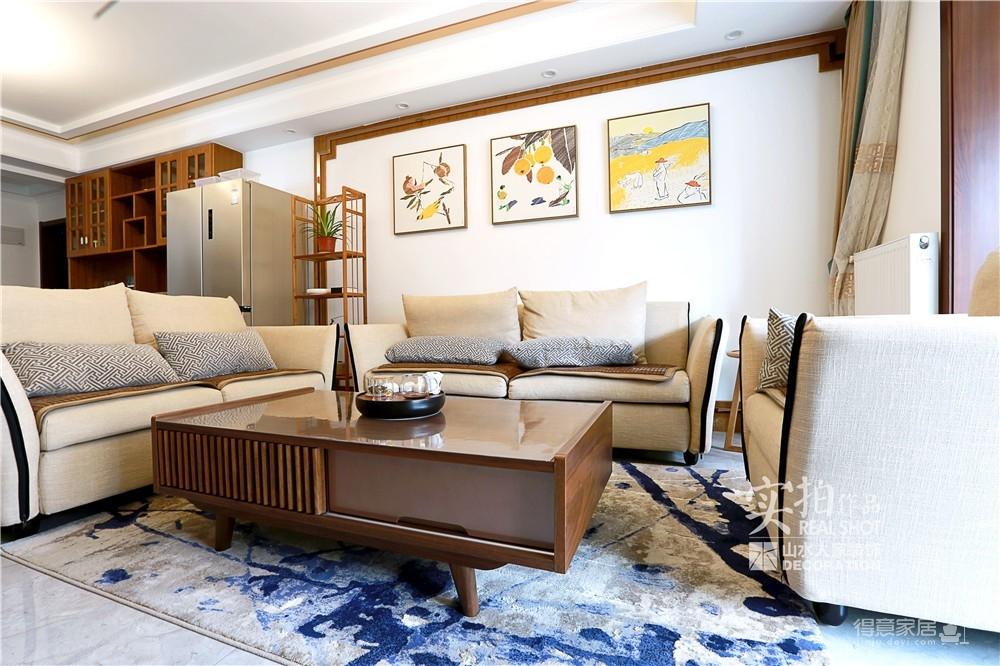 逊湖壹号135平三室两厅新中式风