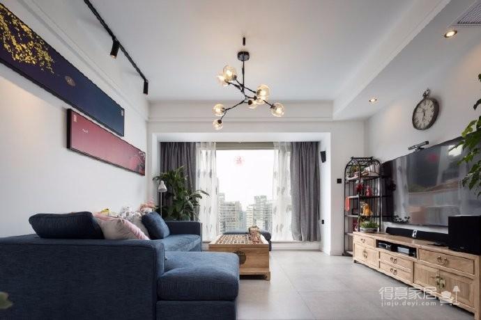 112平北欧混搭新中式家居,硬装选北欧是因为足够简洁,搭配新中式软装才不复杂。