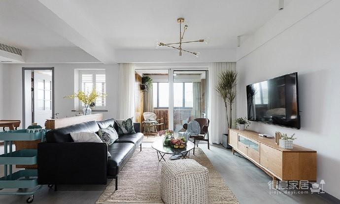 90㎡北欧风格家居设计,清新自然的氛围让人感觉非常惬意舒适! 