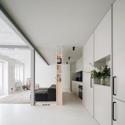 社交娱乐与私人空间完美融合,一居室也能美如画