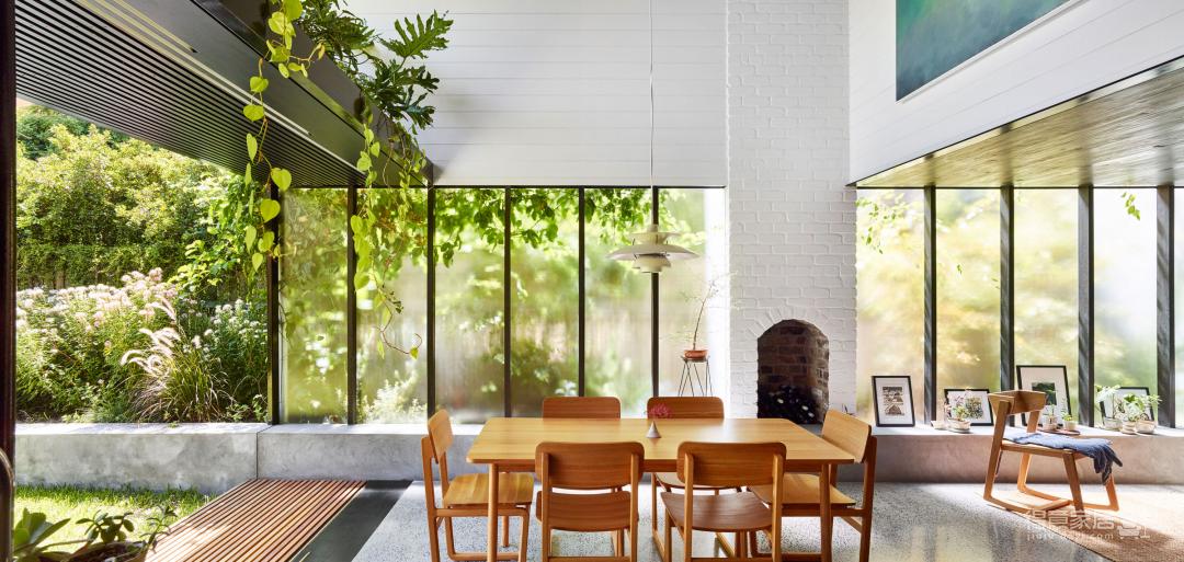 挑空设计+超大植物墙,这个家简直太「绿」了!