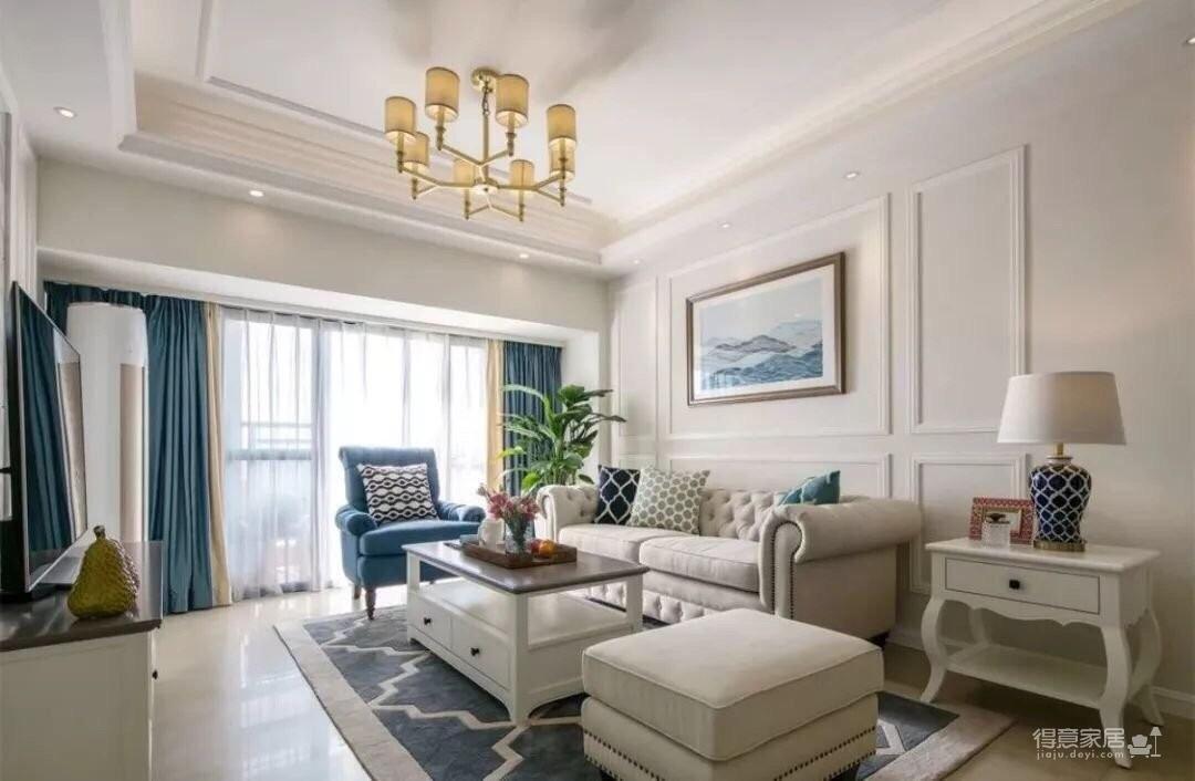 126平的美式风四房,典雅与现代融合,看起来好舒服。