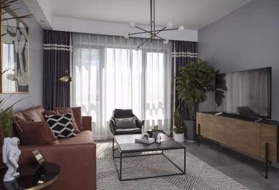 这套房子是是客户夫妇带着孩子住,但是要求有个屋子要有书房和休闲室的功能,通过跟设计师的沟通,打通了一个屋子,显得整个空间通透。