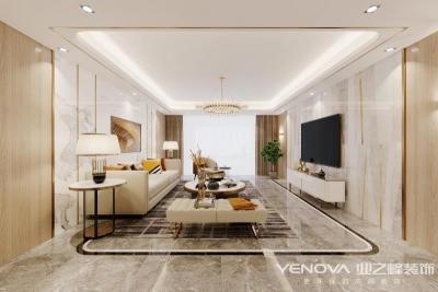 金地格林小城280平别墅设计-现代轻奢风格