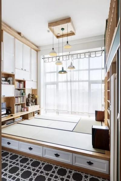 纯日式风复式公寓,电视墙还能这样装