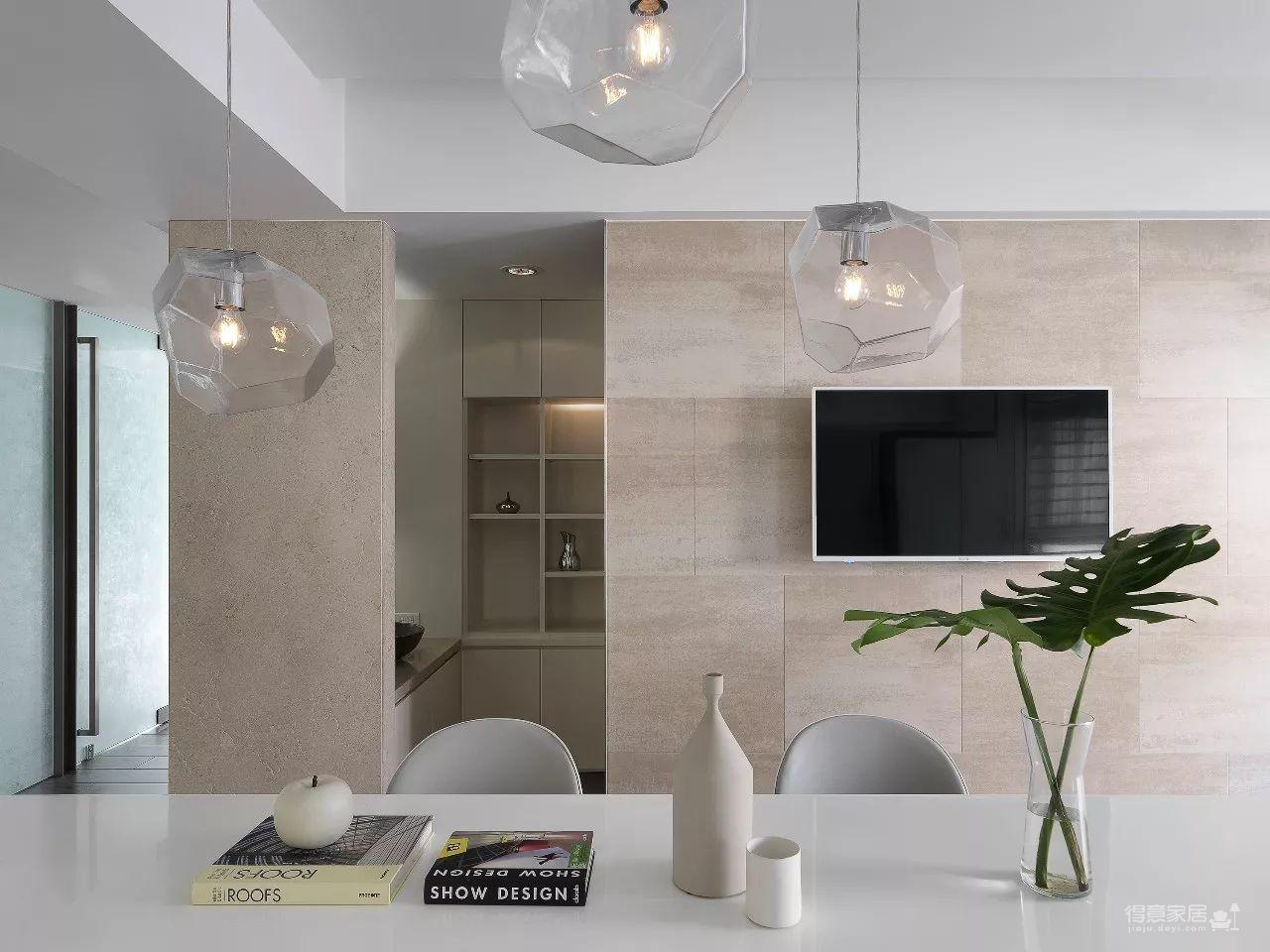 没有电视墙的客厅,营造休闲舒适情趣的氛围