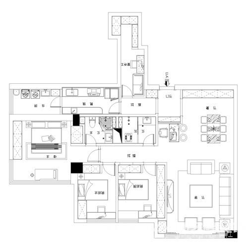 时代豪庭170平-现代轻奢风格
