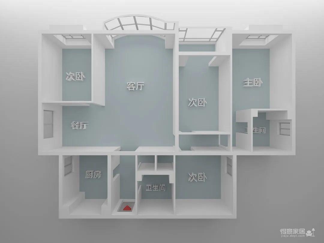 150㎡二手房改造,非常规个性空间