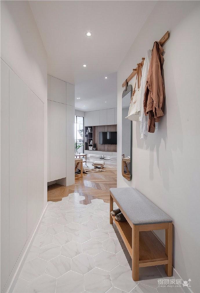 65平日式风家居,异形空间大改造,大地色系又温柔且清爽干净