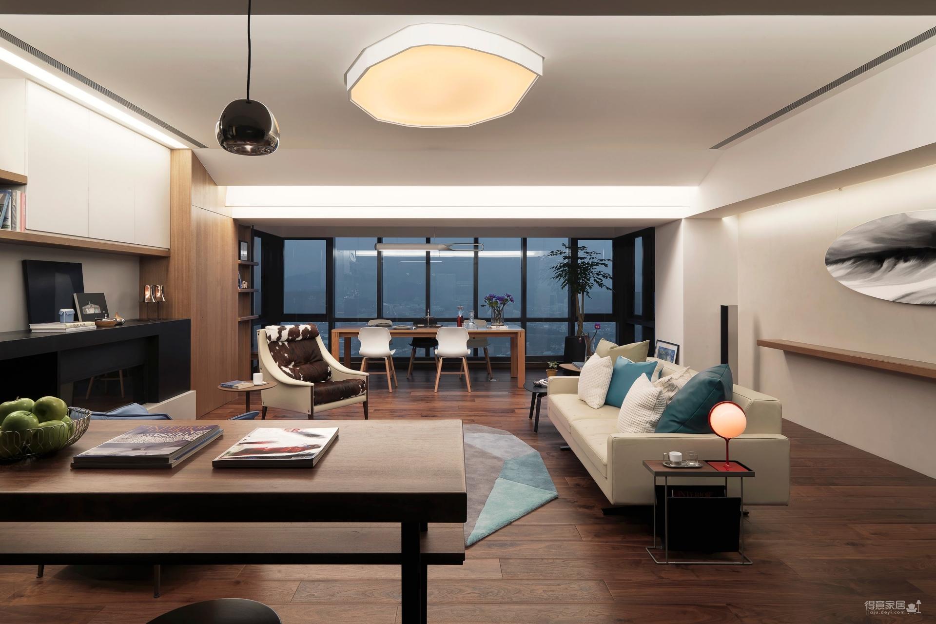 王家湾生活区124平三室两室现代混搭