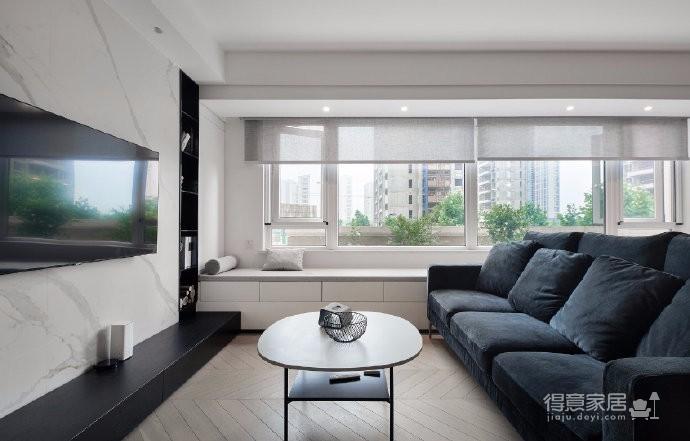 89㎡极致黑白现代简约两居室