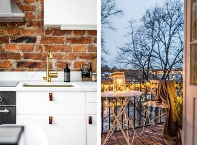 46㎡白系北欧单身小公寓,开放式布局超显空间感!