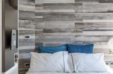 59㎡蓝白系单身公寓设计,散发着慵懒度假氛围!图_7