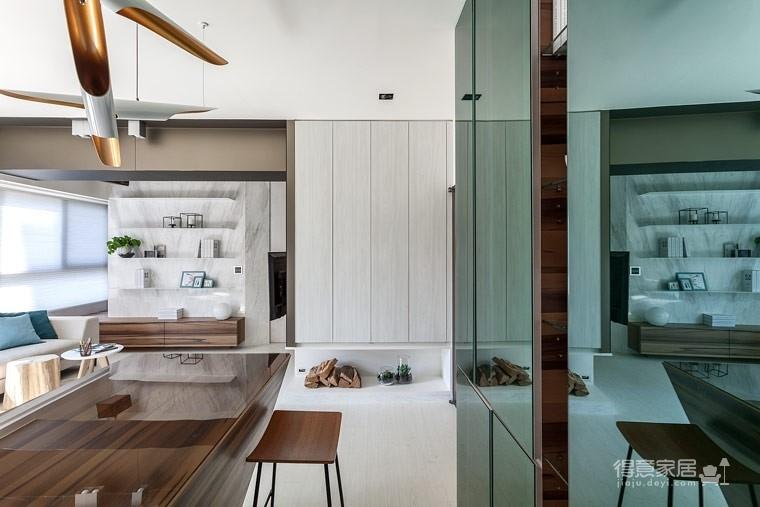 59㎡蓝白系单身公寓设计,散发着慵懒度假氛围!图_11