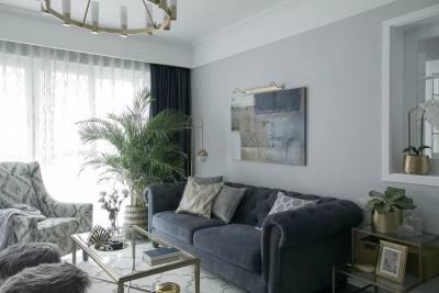 140㎡美式简约风,她家巧用田字格门窗,让空间宽敞又通透!