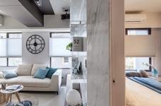 59㎡蓝白系单身公寓设计,散发着慵懒度假氛围!图_6