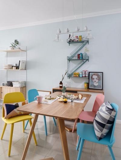 北欧风格里没有条条框框,隔断也很少,区域划分依靠色彩元素,但也正因此,北欧风格的空间,成为了一个具有治愈心灵能力的家,颜值高、气质好,人人喜欢!