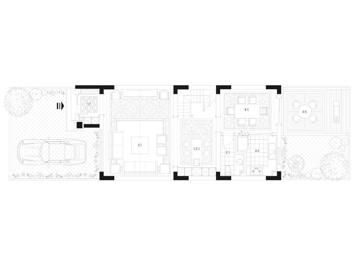 红莲湖别墅330平-现代美式风格