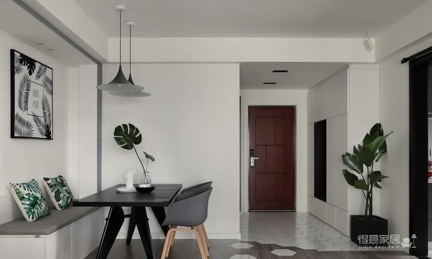 现代简约两居室,绿植点缀家居,清新满满!