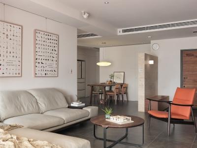 124平三室两厅 现代简约风