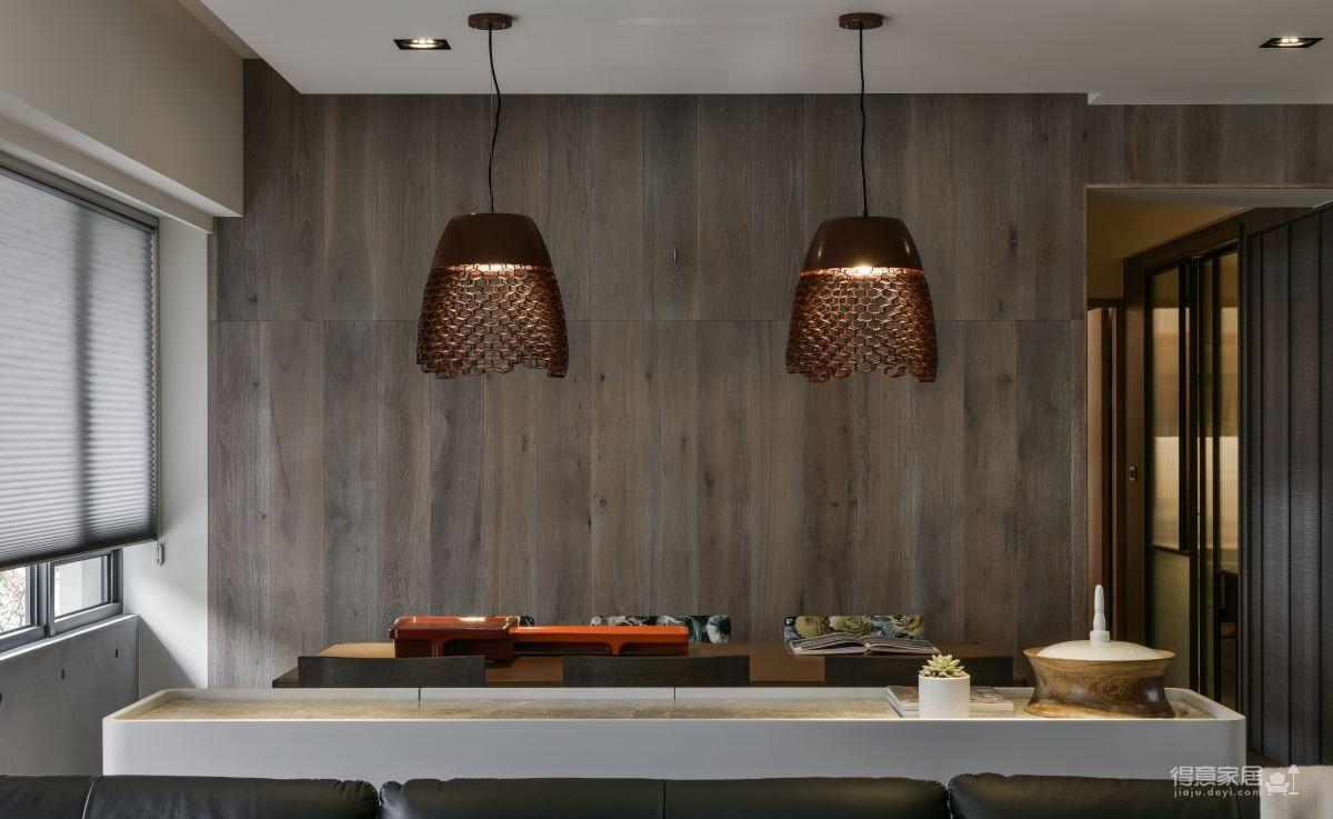 现代港式  木质和大理石的结合的背景墙图_7