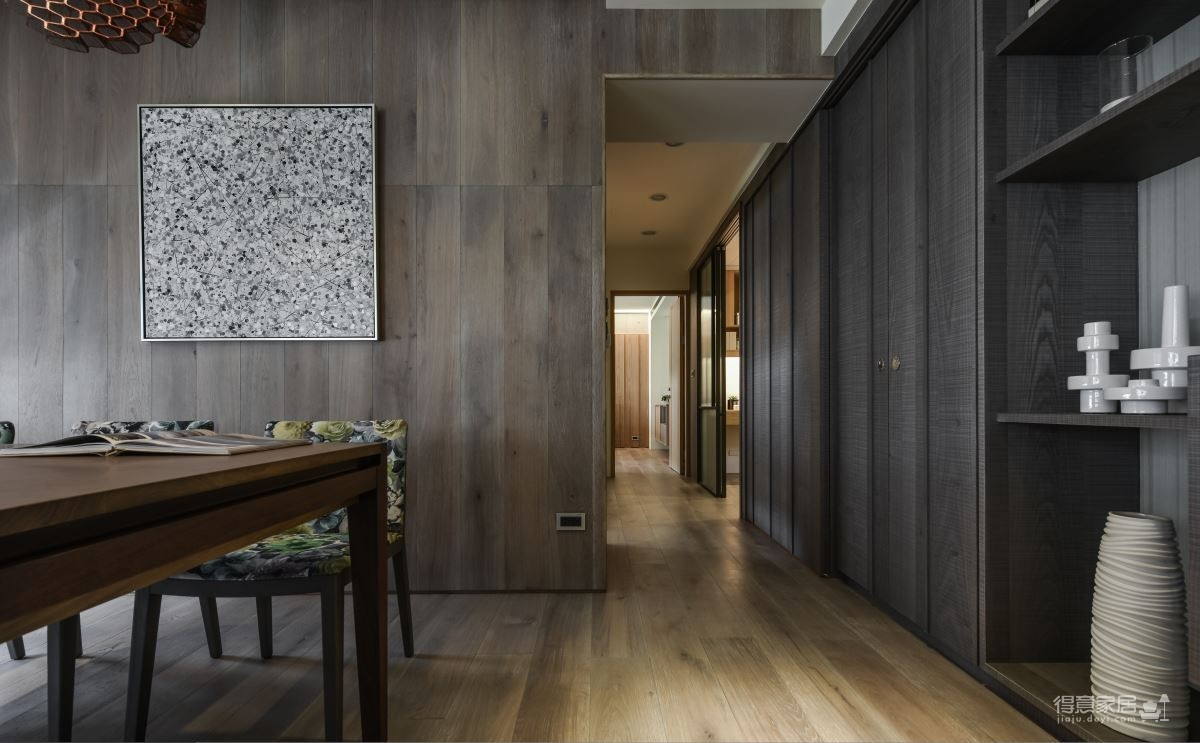 现代港式  木质和大理石的结合的背景墙图_10