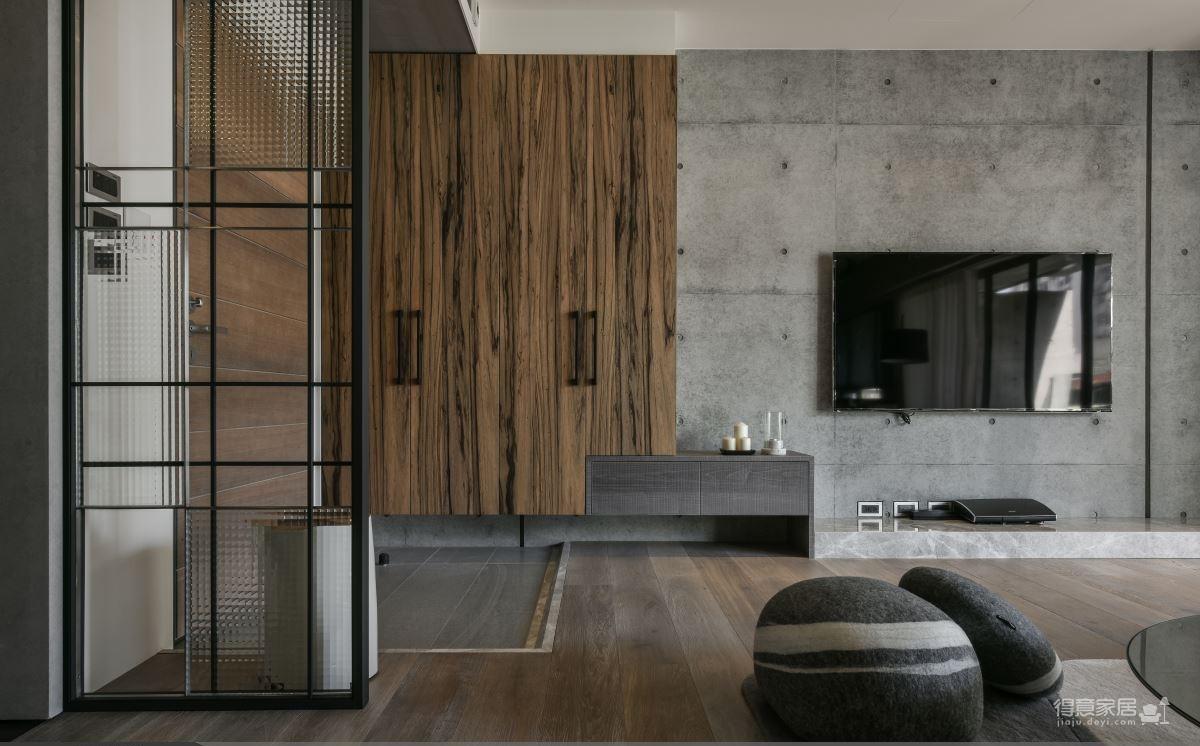 现代港式  木质和大理石的结合的背景墙图_18