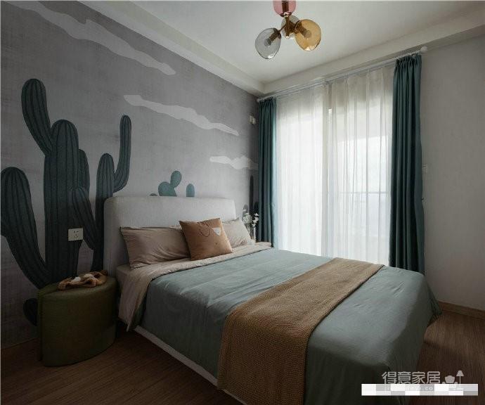 北欧风格89㎡三居室实景,色彩搭配丰富活泼