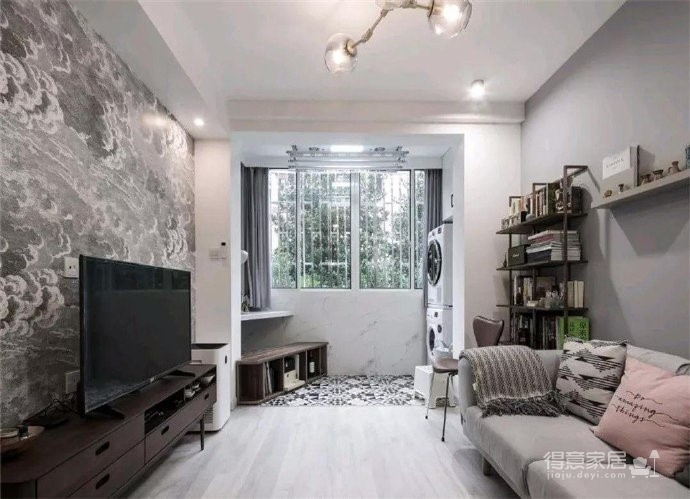 48㎡小公寓,整体收纳设计完全不用担心图_3