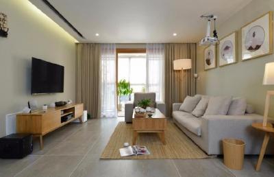 整个空间以简约为主,以天然材料完成,原木的家具,天然的石材、绿植,亚麻无不体现了对自然极简主义的崇尚。