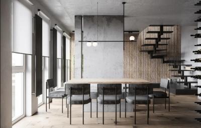 简约复式公寓,石材墙面竟如此有质感