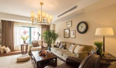 120平简约小美式原木色装修风格,宽敞又大气的家。