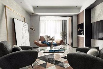 开放式的格局能提高整个空间的舒适度,整体塑造出自然 、 安静  、克制的自然主义设计风格