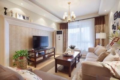 80平的小户型美式风格装修,开放式厨房设计让空间更敞亮,整体效果很温馨。