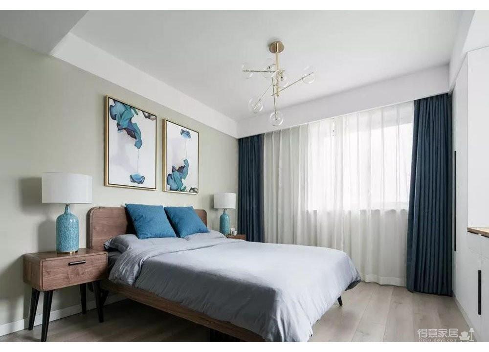 148㎡三代同堂的家,蓝绿色+大理石+木纹搭配好清新