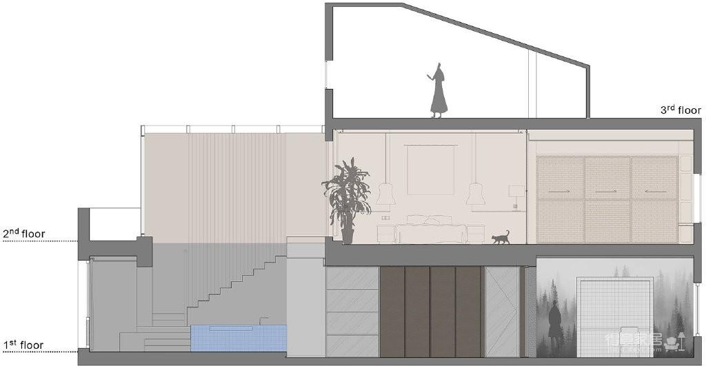 双层复式公寓,一层活泼灵动,一层自然质朴