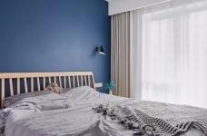 89㎡舒适3居,卧室只刷大蓝墙显高级图_3