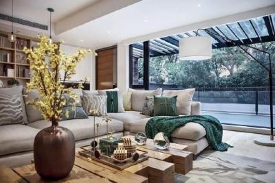 200㎡现代风格别墅,暖暖的木色~ 