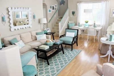 谁说现代家装只流行性冷淡风?Tiffany蓝+微粉,原来撞色搭配这么美