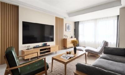 140㎡日式风格装修,整个空间配色为温馨的橡木色家具,淡咖色墙面和白色为主 营造出返朴归真的生活质感 不乏味,不混搭 一切以舒适为主。
