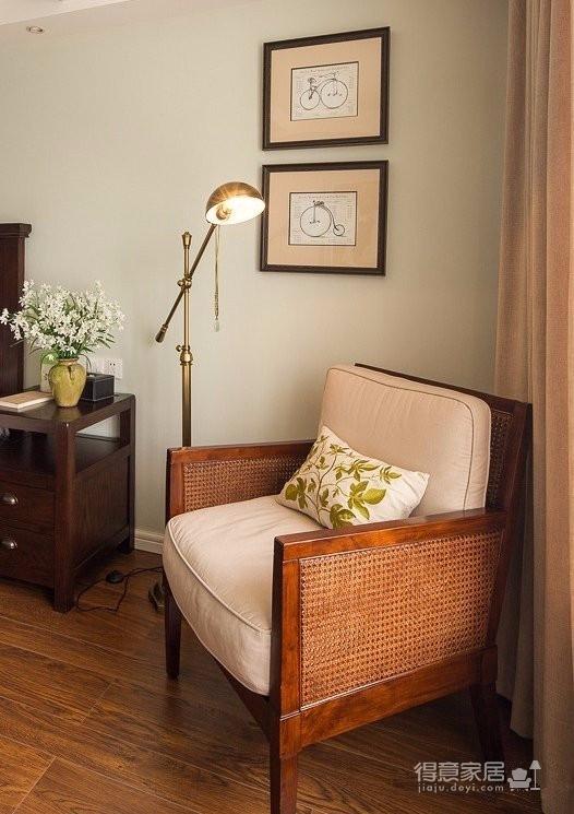 120平简约小美式原木色装修风格,宽敞又大气的家