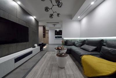 75㎡现代风装修,空间上通透、敞朗而明亮